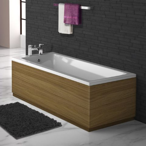 Luxury Matt Walnut 2 Piece adjustable Bath Panels